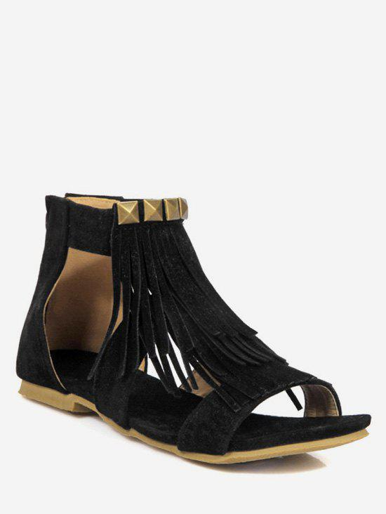 Buy Plus Size Fringes Casual Flat Heel Sandals