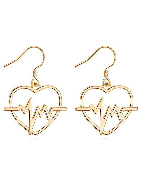 Sale Stylish Electrocardiogram Heart Hook Earrings
