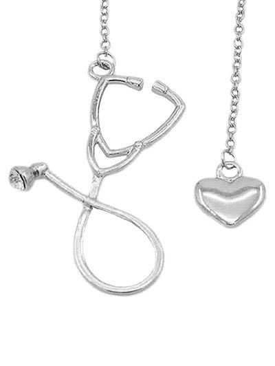 Chic Stethoscope Heart Pendant Necklace Jewelry