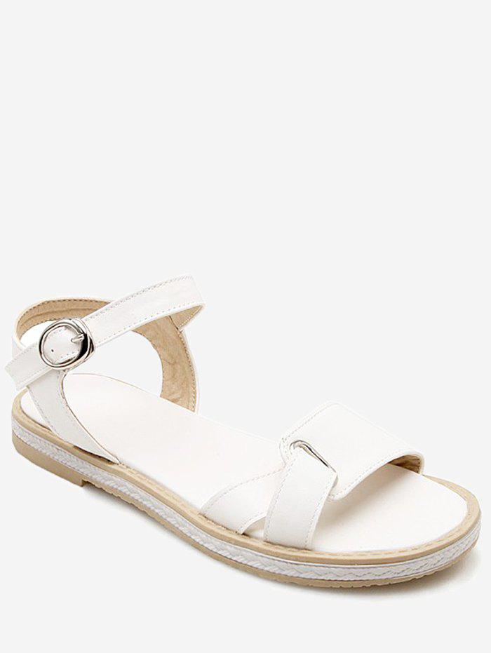 Shops Plus Size Low Heel Buckled Leisure Sandals