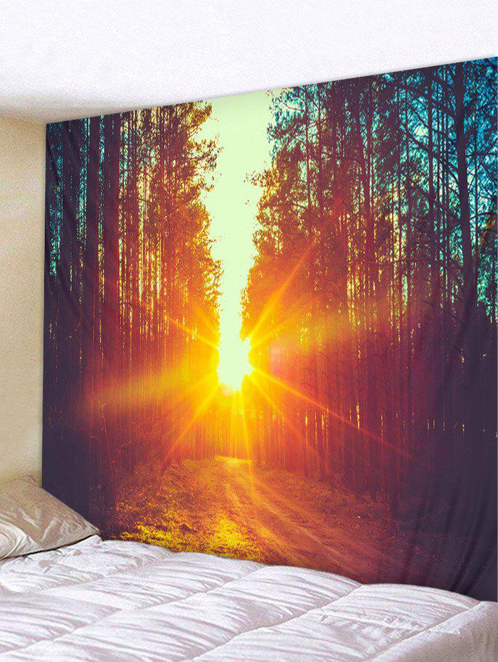 Fancy Sunset Forest Pattern Wall Tapestry Hanging Decor
