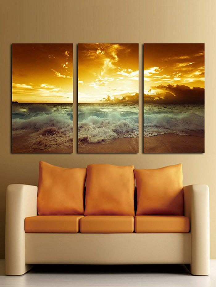 Trendy Seaside Sunset Unframed Canvas Paintings