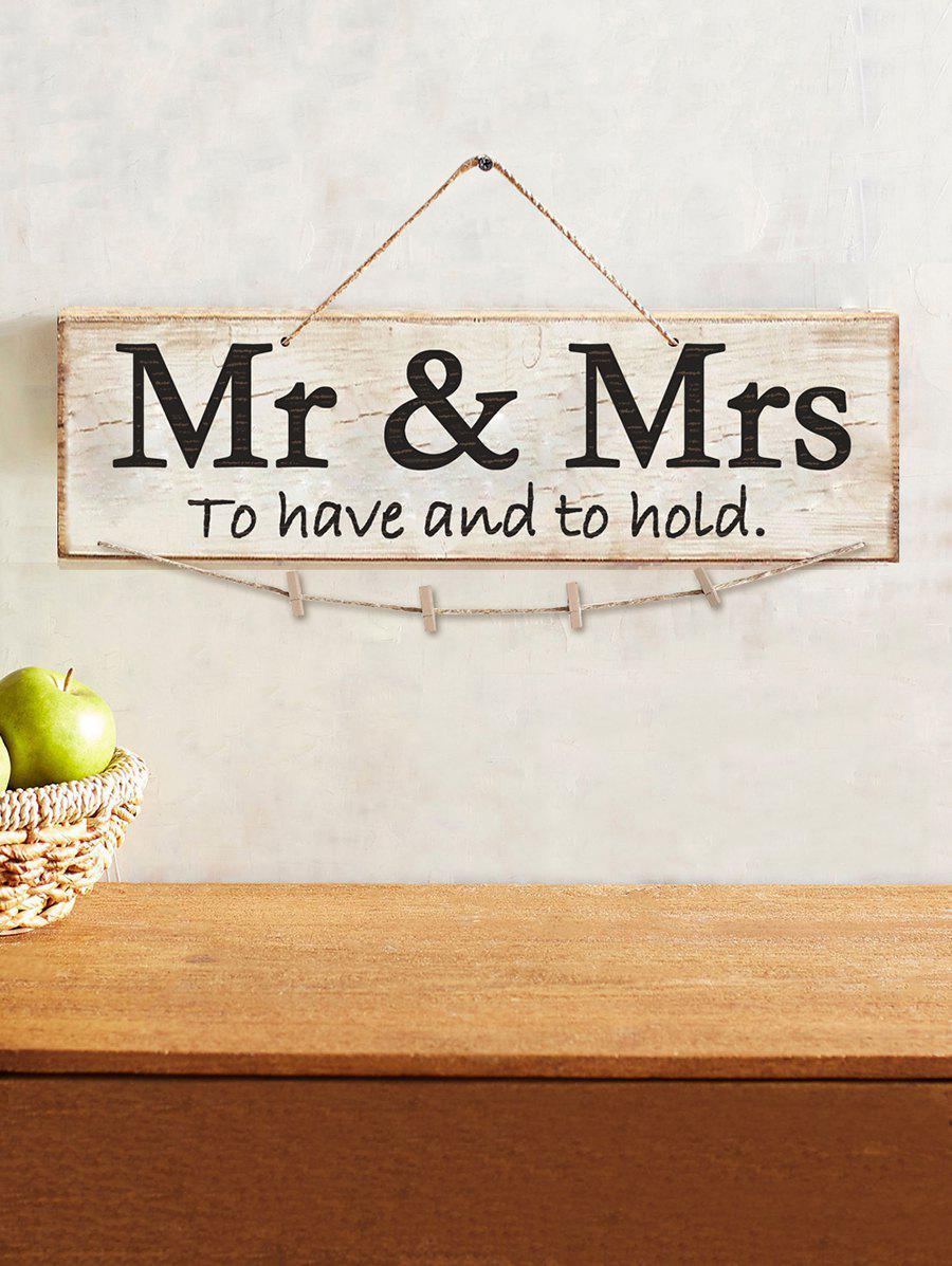 Sale Mr and Mrs Wood Sign Wedding Decor Photo Holder Set