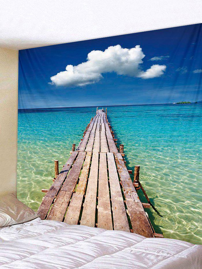 Best Seascape Wooden Board Pattern Tapestry Decoration