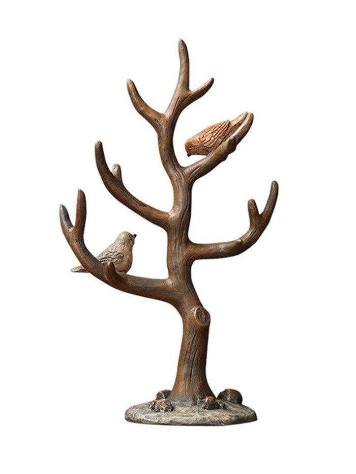 Outfits Bird Tree Branch Shape Resin Jewelry Rack