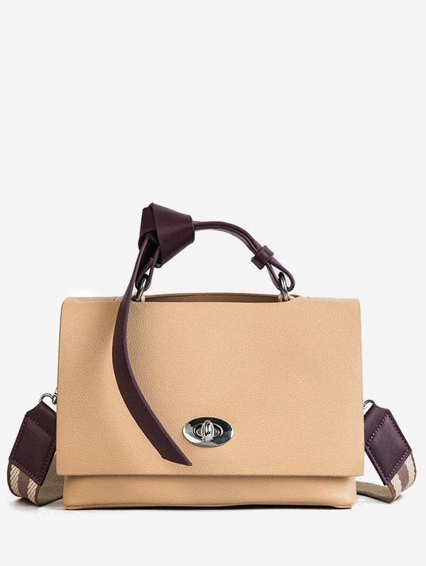 Online PU Leather Knotted Handle Shoulder Bag