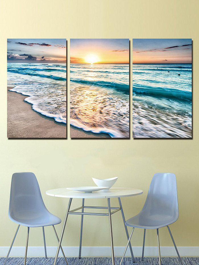New Sunset Beach Print Unframed Split Canvas Paintings