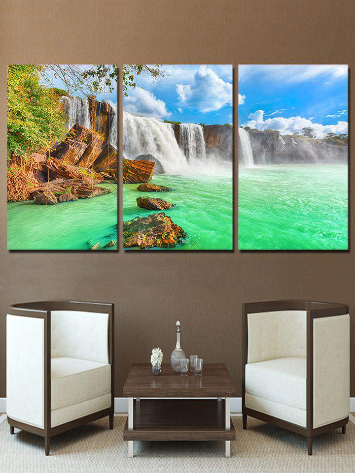 Sale Waterfall River Print Unframed Split Canvas Paintings