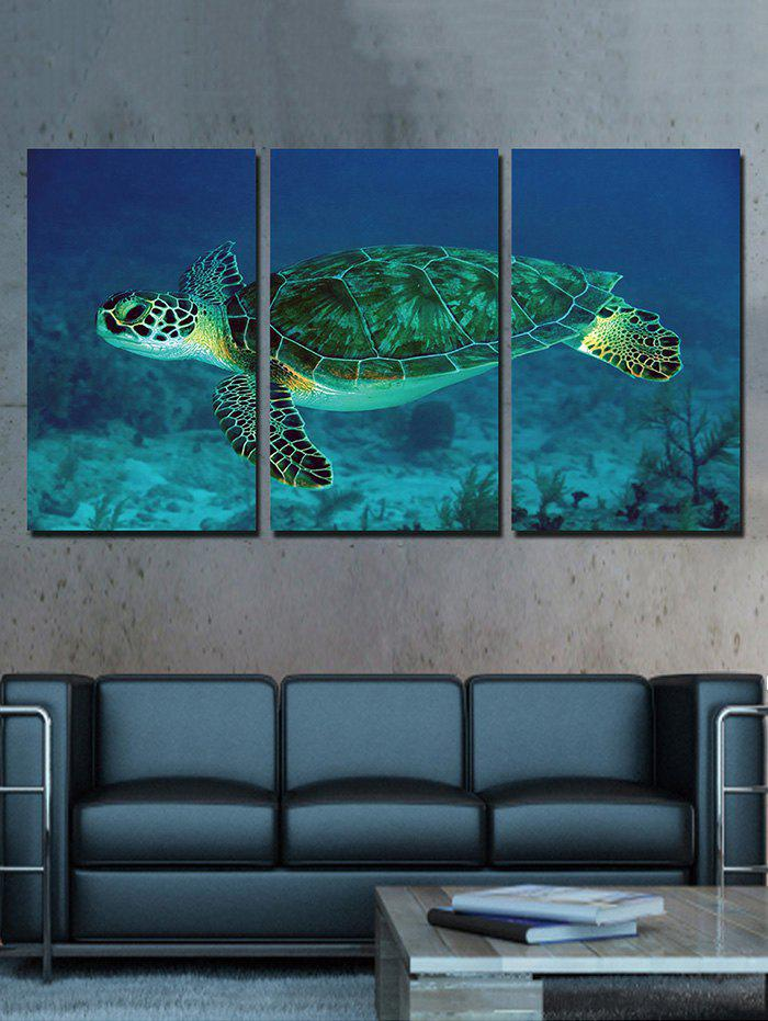 Fashion Sea Turtle Print Unframed Split Canvas Paintings