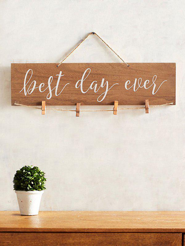 New Best Ever Day Wood Sign Wedding Decor Photo Holder Set
