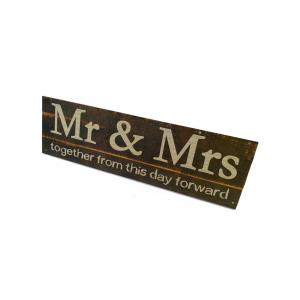 Mr and Mrs Wood Sign Photo Holder Set -