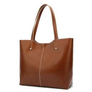 PU Leather Casual Large Capacity Tote Bag -