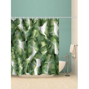 Banana Leaf Print Waterproof Shower Curtain -