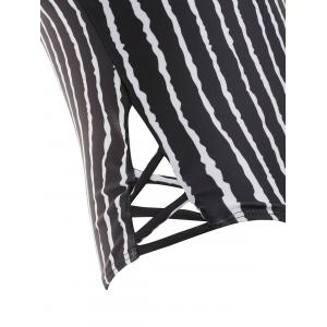 Striped Criss Cross Swimsuit -