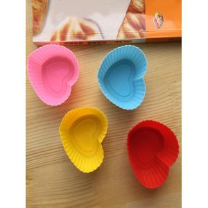 Heart Shaped Cake Molds Muffin Cups 6PCS -