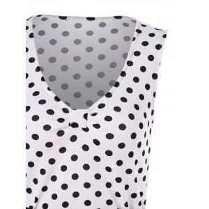 Polka Dots Buttoned Bodycon Dress -