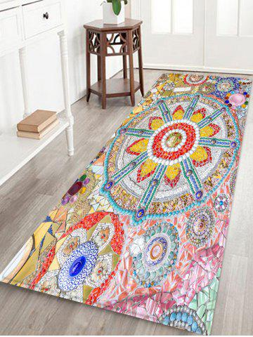 Trendy Bohemian Splicing Floral Indoor Outdoor Area Rug