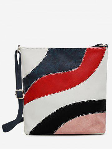 Online Stitches Color Block Casual Outdoor Crossbody Bag