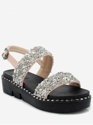 Plus Size Sparkling Crystals Decorated Leisure Platform Sandals - PINK Low Cost For Sale Sale Store Lowest Price Online Release Dates For Sale Cheap Price Buy Discount h8zyahslBp