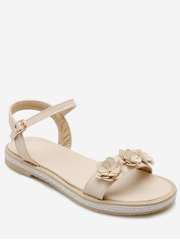 Cheap Sale Fashionable Clearance With Mastercard Plus Size Ankle Wrap Flower Casual Sandals - BEIGE Cheap Pick A Best Outlet Footlocker DSp9PcbTl