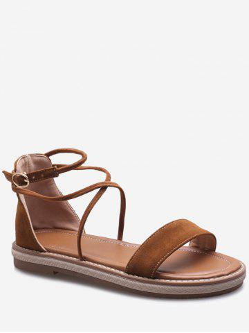 Plus Size Ankle Strap Low Heel Chic Sandals for Vacation