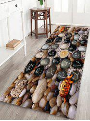 Letter Cobble Print Anti-skid Water Absorption Area Rug -
