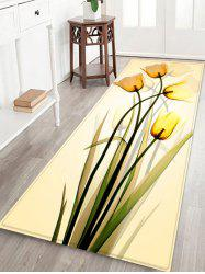 Flowers Print Anti-skid Water Absorption Area Rug -