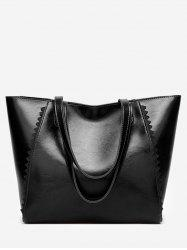 Leisure Holiday Travel Scallop Decorated Tote Bag -
