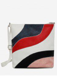 Stitches Color Block Casual Outdoor Crossbody Bag -