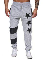 Narrow Feet Contrast Color Star Jogger Pants -