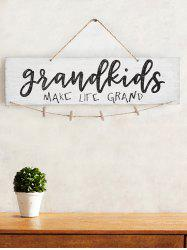 Make Life Grand Wood Sign Home Decor Photo Holder Set -