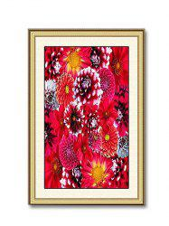 Blooming Flowers Print Wall Sticker for Bedrooms -