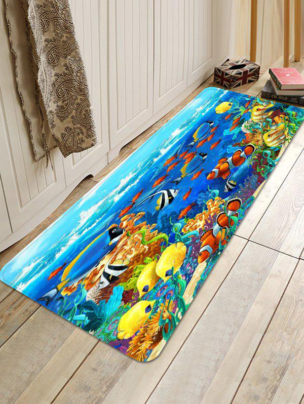 Sale Infauna Pattern Non-slip Flannel Floor Area Rug