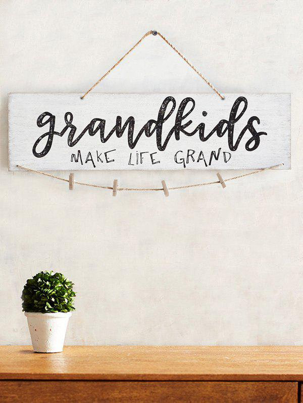 Unique Make Life Grand Wood Sign Home Decor Photo Holder Set