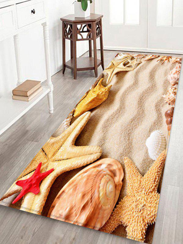 Outfit Beach Starfish Pattern Anti-skid Water Absorption Area Rug