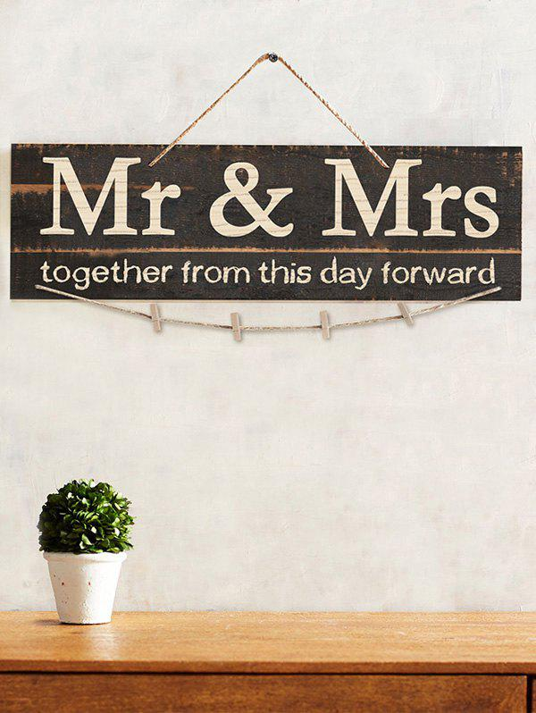 Latest Mr and Mrs Wood Sign Photo Holder Set