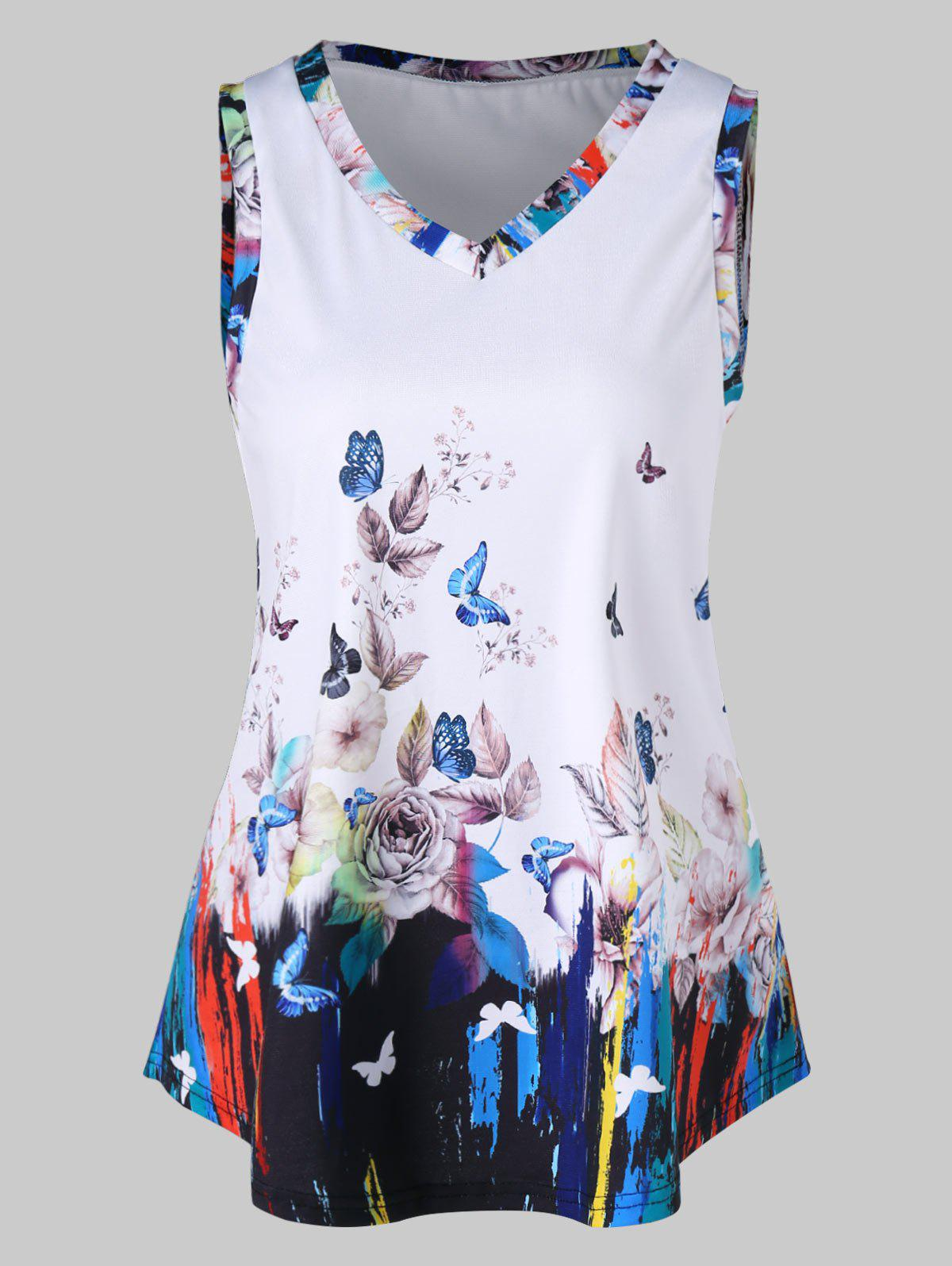 Latest Floral Swing Tank Top