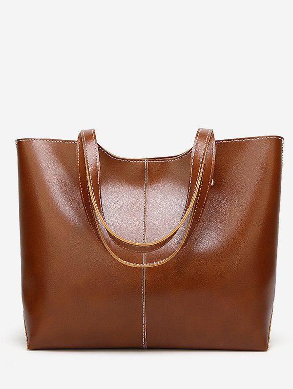 Sale PU Leather Casual Large Capacity Tote Bag