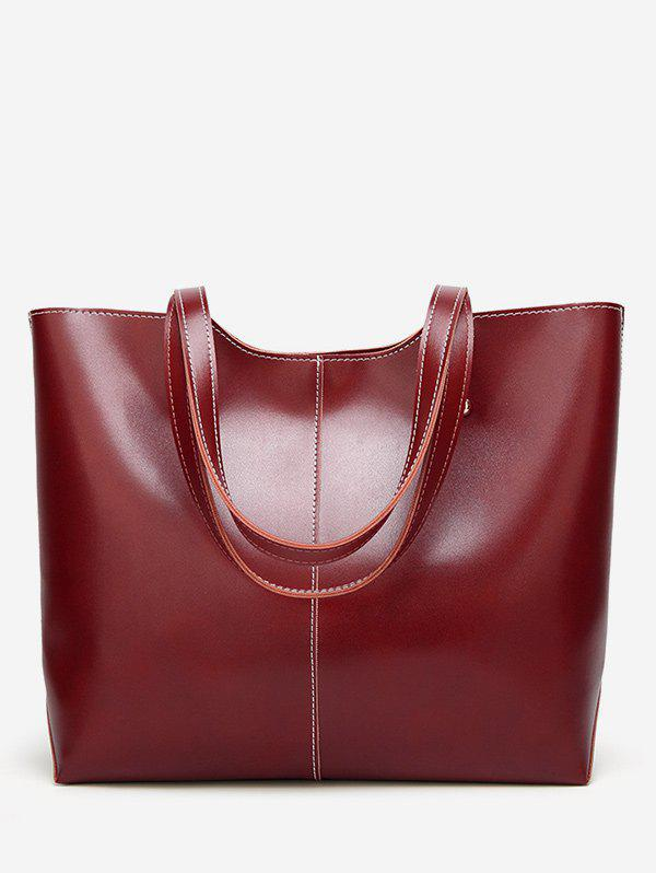 Online PU Leather Casual Large Capacity Tote Bag