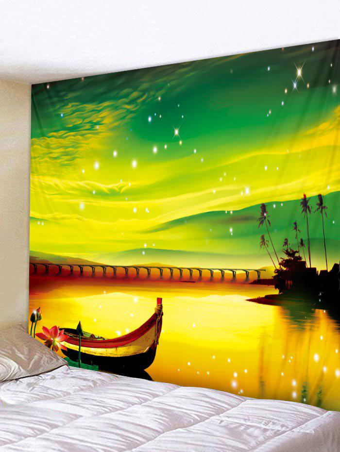 Multi W59 Inch * L51 Inch Dream Boat Print Tapestry Wall Hanging ...
