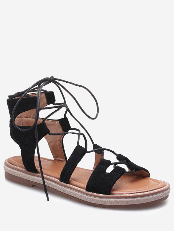 Buy Plus Size Cut Out Outdoor Travel Lace Up Sandals