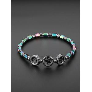Star Colorful Beads Hematite Chain Anklet -