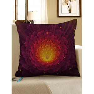 Ombre Flower Print Decorative Linen Sofa Pillowcase -
