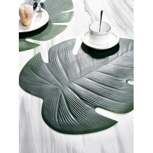 Non-slip Oil-proof Tropical Leaf Placemat -