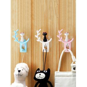 Cartoon Cat Removable Suction Cup Wall Hook Hanger -