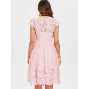 Lace Embroidery A Line Dress -