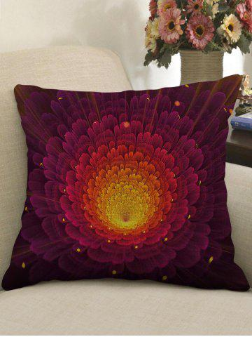 Store Ombre Flower Print Decorative Linen Sofa Pillowcase