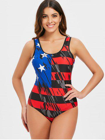 One-piece American Flag Bathing Suit