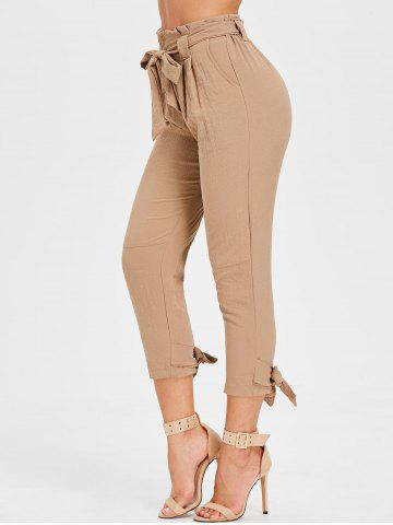 Shop High Waisted Belted Tapered Pants