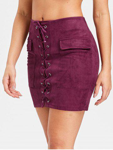 Best Mini Pocket Lace Up Skirt